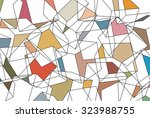 random cubes pattern | Shutterstock .eps vector #323988755