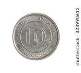 ten seng congo coin isolated...   Shutterstock . vector #323990612