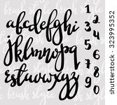 handwritten brush pen modern... | Shutterstock .eps vector #323995352