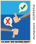 thumbs up and down flat icon... | Shutterstock .eps vector #323995916