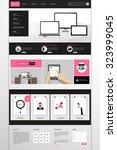 website design in flat style.... | Shutterstock .eps vector #323999045