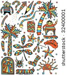 set of colorful editable vector ... | Shutterstock .eps vector #32400001