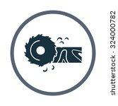 circular saw icon | Shutterstock .eps vector #324000782