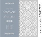 vintage invitation card with... | Shutterstock .eps vector #324007196