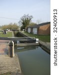 canal lock showing different... | Shutterstock . vector #32400913