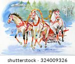 horse carriage outdoors. horses ...   Shutterstock . vector #324009326