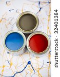 paint and cans | Shutterstock . vector #32401384