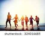 friendship freedom beach summer ... | Shutterstock . vector #324016685