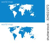 world map times two | Shutterstock .eps vector #324021572