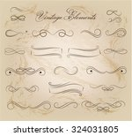 vintage elements and page... | Shutterstock .eps vector #324031805