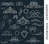 vintage set decor elements.... | Shutterstock . vector #324033092
