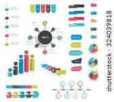 collection of infographics... | Shutterstock .eps vector #324039818