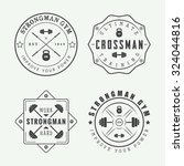 set of gym logos  labels and... | Shutterstock .eps vector #324044816