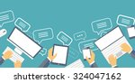 messaging and spamming.... | Shutterstock . vector #324047162