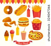 fast food vector design... | Shutterstock .eps vector #324047366