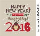 illustration of new year's... | Shutterstock .eps vector #324049166