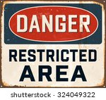 danger restricted area  ... | Shutterstock .eps vector #324049322