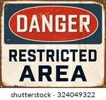 danger restricted area  ... | Shutterstock .eps vector #324049322