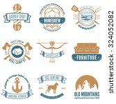 retro vintage insignias set ... | Shutterstock .eps vector #324052082