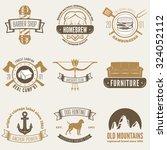 retro vintage insignias set ... | Shutterstock .eps vector #324052112