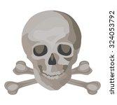 haunted skull and crossbones   Shutterstock .eps vector #324053792