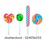 lollipop on a white background | Shutterstock . vector #324056252