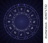 set of symbol zodiac sign.... | Shutterstock .eps vector #324071732