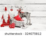 santa claus and christmas... | Shutterstock . vector #324075812