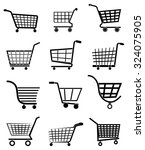 shopping cart icons set | Shutterstock .eps vector #324075905