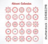 christmas advent calendar with...   Shutterstock .eps vector #324082298
