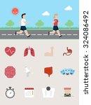 benefits of running | Shutterstock .eps vector #324086492