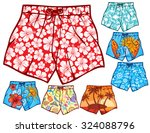 swim shorts collection ... | Shutterstock .eps vector #324088796