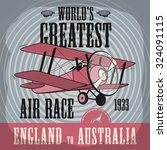 airplane race abstract  vector... | Shutterstock .eps vector #324091115