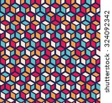 seamless pattern of geometric... | Shutterstock .eps vector #324092342