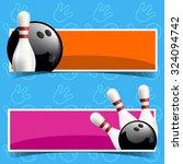 bowling horizontal banners. | Shutterstock .eps vector #324094742