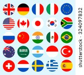 simple circle flags vector of... | Shutterstock . vector #324097832