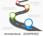 road infographic template with... | Shutterstock .eps vector #324099302