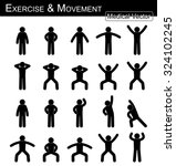 exercise and movement   move... | Shutterstock .eps vector #324102245