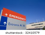 Modern Hospital With Emergency...