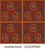 knitted seamless pattern.   Shutterstock .eps vector #324109565