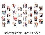 workforce concept united... | Shutterstock . vector #324117275