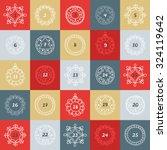 christmas advent calendar.... | Shutterstock .eps vector #324119642