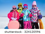 group of children playing on... | Shutterstock . vector #324120596
