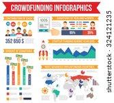 crowdfunding infographics set... | Shutterstock .eps vector #324121235