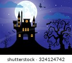halloween night background | Shutterstock .eps vector #324124742
