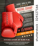boxing champ poster with... | Shutterstock .eps vector #324127166
