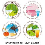 cocktail stamps | Shutterstock .eps vector #32413285