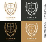 set of vector vintage logo... | Shutterstock .eps vector #324134066