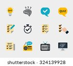 raffle prizes and quiz flat... | Shutterstock .eps vector #324139928