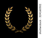 vector gold award laurel wreath.... | Shutterstock .eps vector #324160502